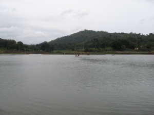 The artificial lake atop Yelagiri